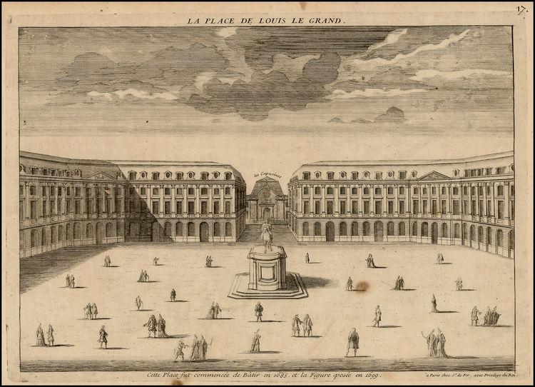 Image result for La Place Vendome Paris gravure